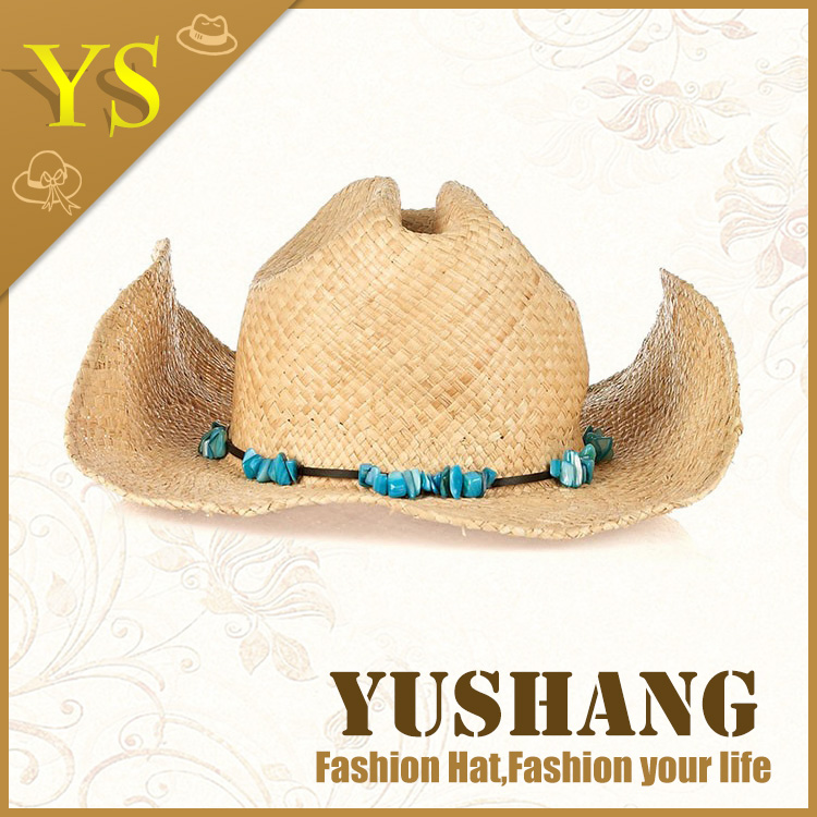 Wholesale Raffia design your own customize Straw Cowboy Hats manufacturer