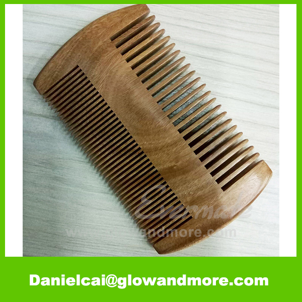Hot selling high quality Natural sandalwood beard comb