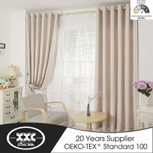 Factory Sales directly Faux Line Look Ready Made Curtains for Living Room