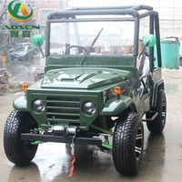 Cheap Mini Army Green Jeep 300cc Strong Power for Adults