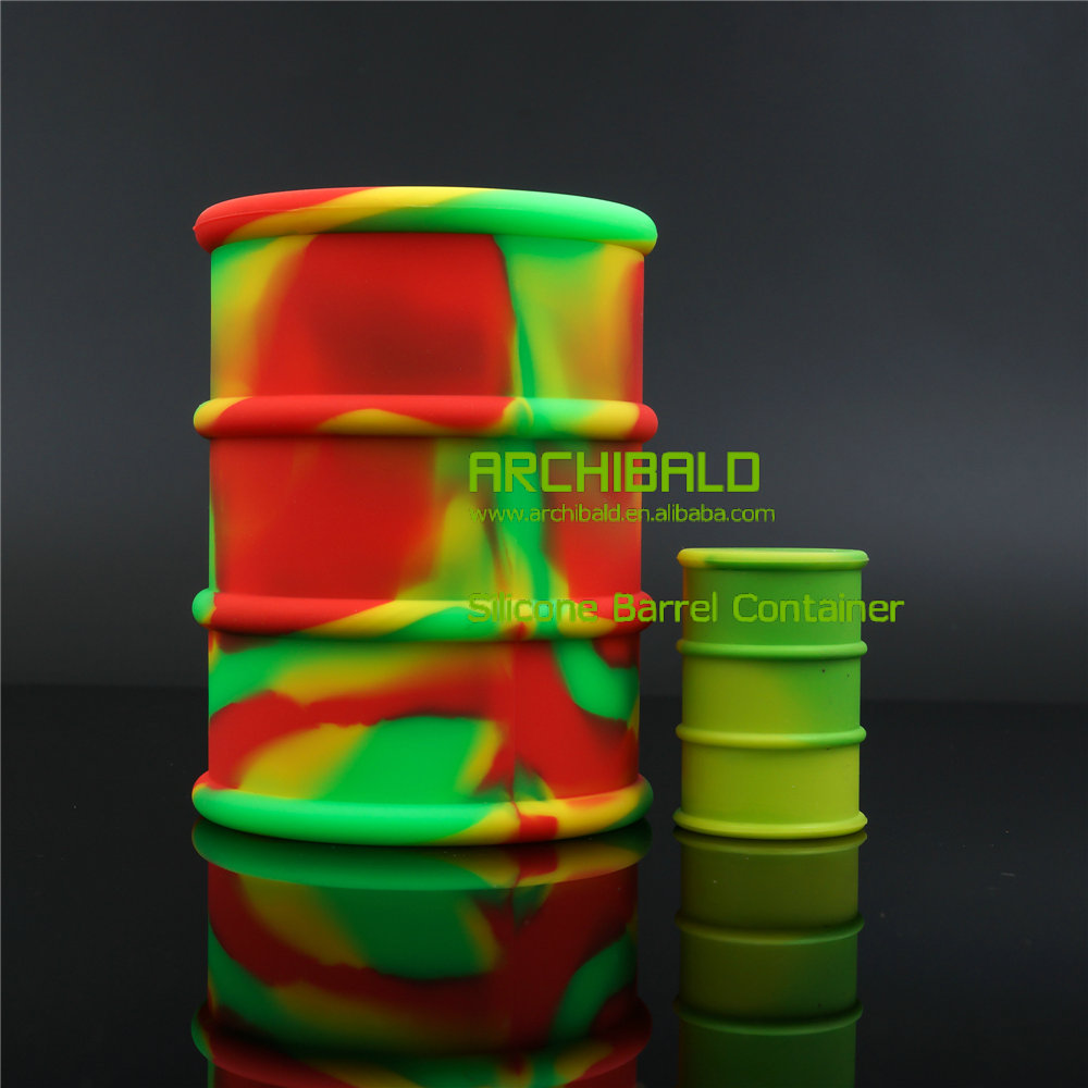 Quarter Best Sell Silicone Barrel Container For Oil