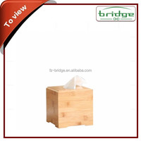 new hot&popular environmental unfinished wood&bamboo tissue box with padlock for wholesale