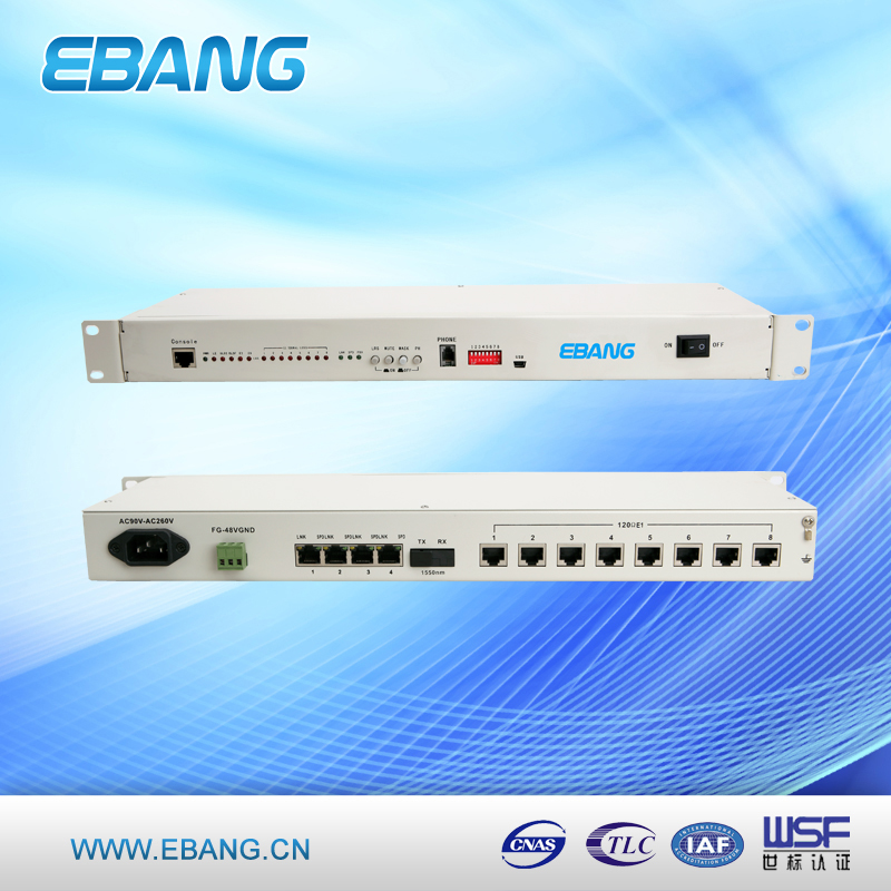 single mode 8 port RJ45 10/100M PDH multiplexer