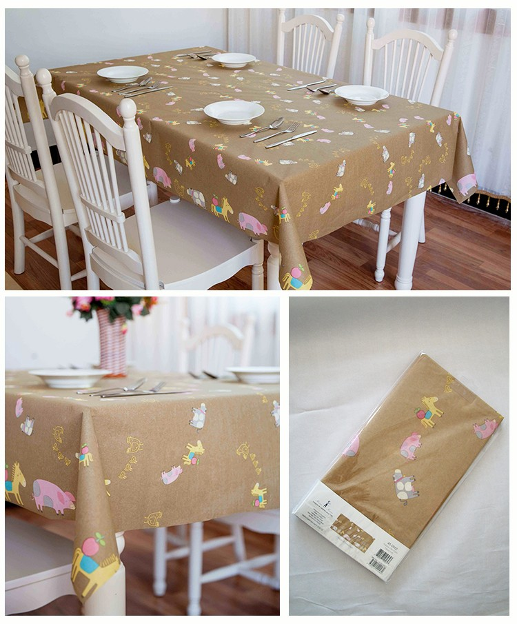 Manufacturer Promotional Past National Environmental Protection Test Rectangle Waterproof Table Cloth