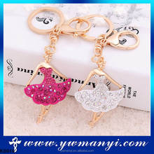 Low MOQ stock for retailers lovely dance ballerina keychain K0010