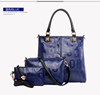 Wholesale fashion lady PU leather travel bag set 3 pieces in 1 set