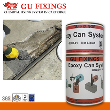 Repair cracks and Resurface pitting using pouring concrete mortar adhesive