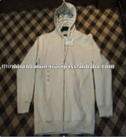 Men's White Pullover Cotton Sweatshirt With Hood