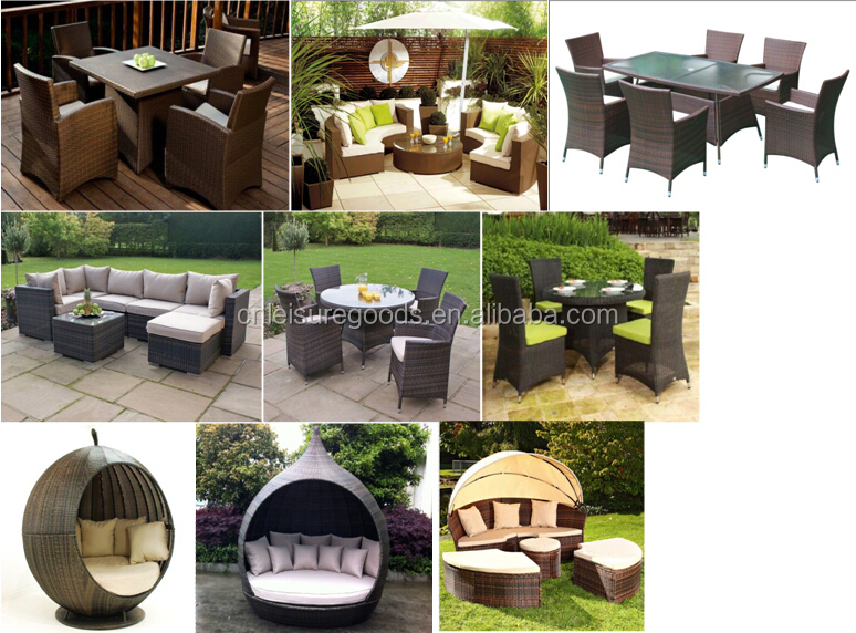 Outdoor KD rattan round furniture set