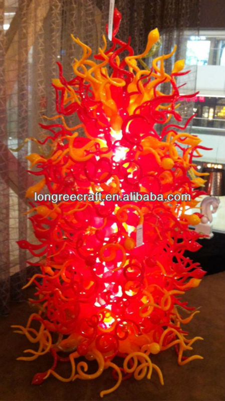 Modern Large Ground Floor Decor Art Twist Handblown Glass Sculpture
