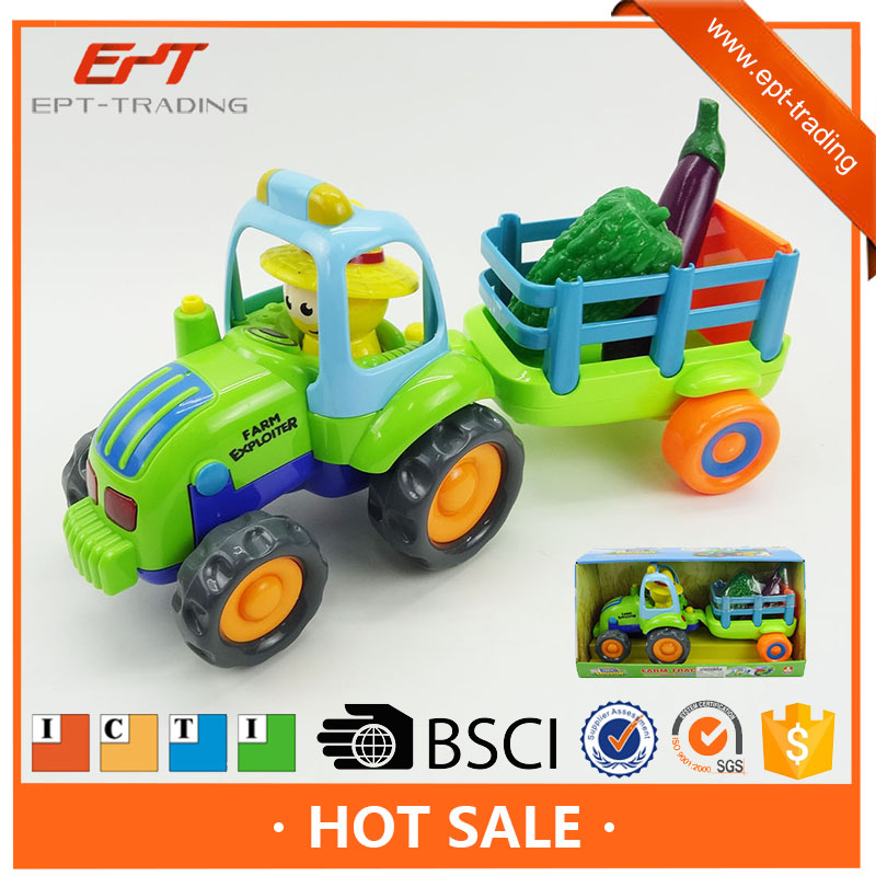 Children's Toys Farmer Farm Tractor Planting Machine Sprinkler Inertia Model Engineering Car