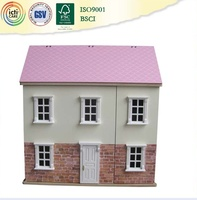 Hot selling and very beautiful wooden house,promotional toy