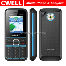 ADMET A600 Low Price Music Mobile Phone with Lanyard Dual SIM Card 1.77 Inch TFT Screen FM Loudspeaker Dual LED Torch
