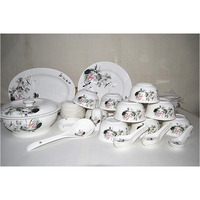 different shape high quality dinner set with hand paintings pattern