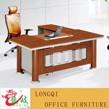 classic cherry reception desk melamine office executive table red wooden desk with leather table top