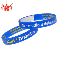 Wholesale custom diabetes silicone bracelet for sale
