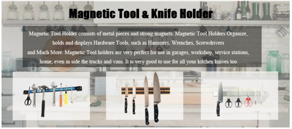 Different Material Magnetic Knife Holder/Magnetic Knife Bar/Magnetic Tool Holder