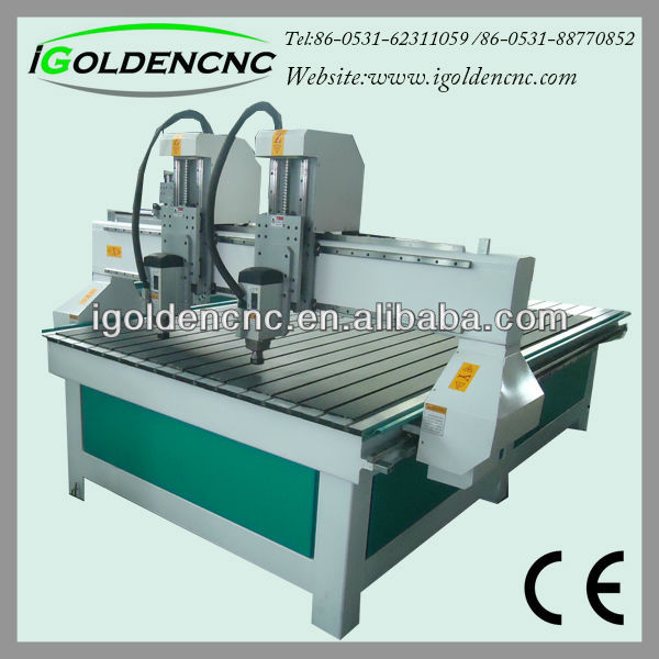 IGW1325 double heads CNC Router for woodworking China router manufacturer looking for representatives in Russia