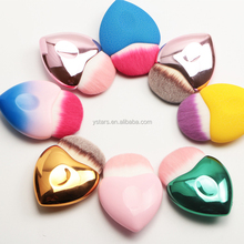 wholesale synthetic hair cheap heart shaped makeup brush custom logo makeup brush