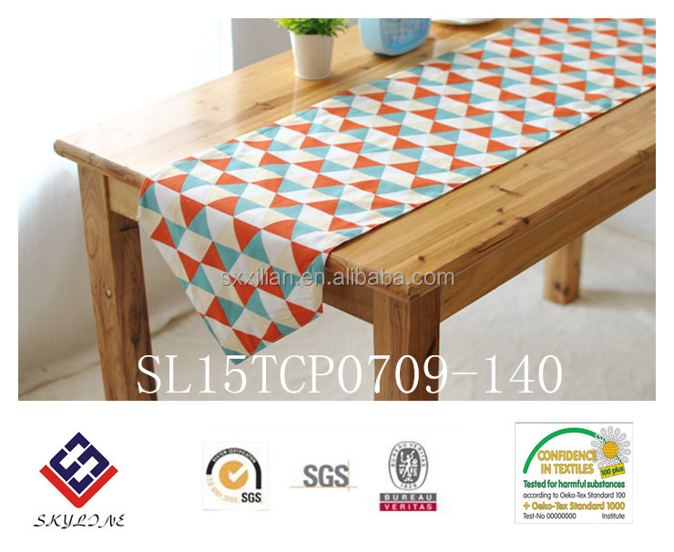 geometric drawing cotton tablecloth modren fashion table runner