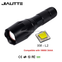 Jialitte F006 Bright CREEs XM L2 LED Tactical Torch Flashlight, 5 Modes Zoom Lens with Adjustable Focus For Hiking Camping