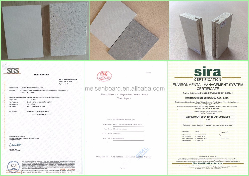 Enviormentalfriendly glass magnesium oxide panel
