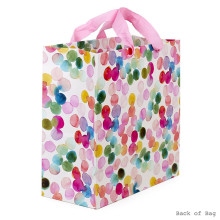 Cotton rope colorful creative paper gift bag with handles