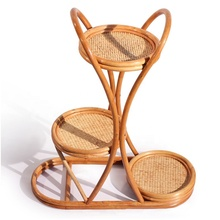 High Quality Rattan Wooden Plant Stand Indoor <strong>Furniture</strong> Flower Pot Stand