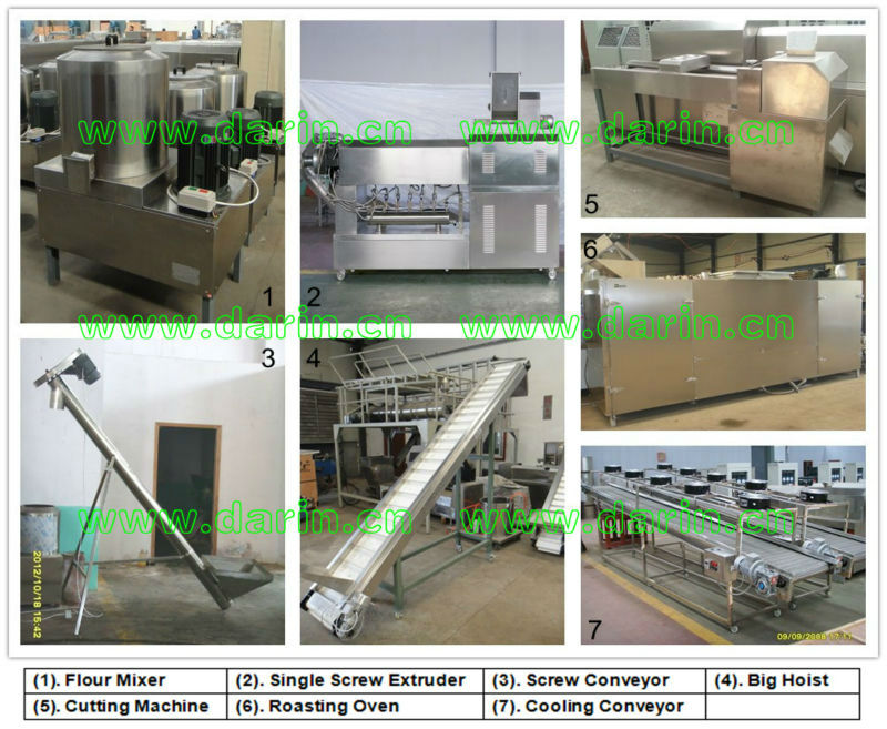 Italy Noodles/Macaroni/Penne/Fusilli Machine/Making Machine