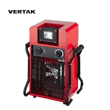 VERTAK 650/3300W portable stainless steel electric quartz tube industrial fan <strong>heater</strong> with LED light