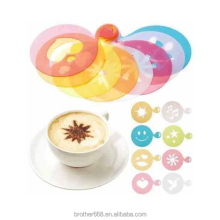 Eco-friendly food grade plastic coffee stencil coffee decoration stencil cappuccino art stencil