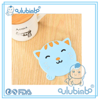 Cheap sale funny Unique style cute shape silicone round cup pad