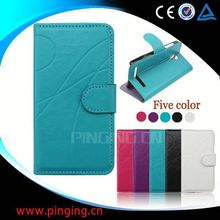 factory price wallet leather flip case for samsung omnia w i8350