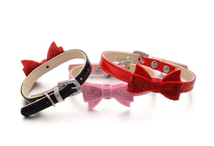 Hot sale Blingbling bowknot dog cat lovely Pet Collar