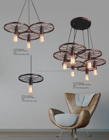 modern iron ball pendant light simple rounded suspension chandelier for home decoration