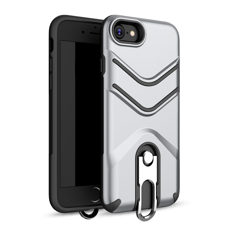 Multi-functional 2 in 1 Shockproof Kickstand Lanyard Armor Case For iPhone 7/8