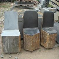 Manufacture direct sale outdoor basalt stone garden chair table set