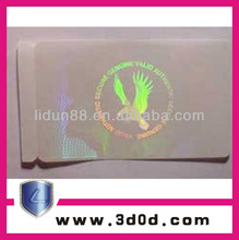 2d/3d Anti-counterfeit adhesive void label/sticker in 2012