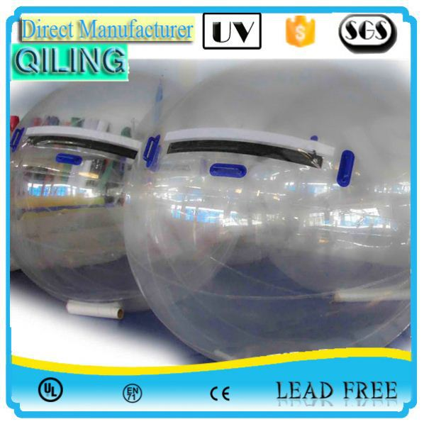 QL new fashion transparent TPU handle water ball for kids