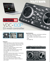 best selling Professional DJ Equipment VDC-100M midi dj controller