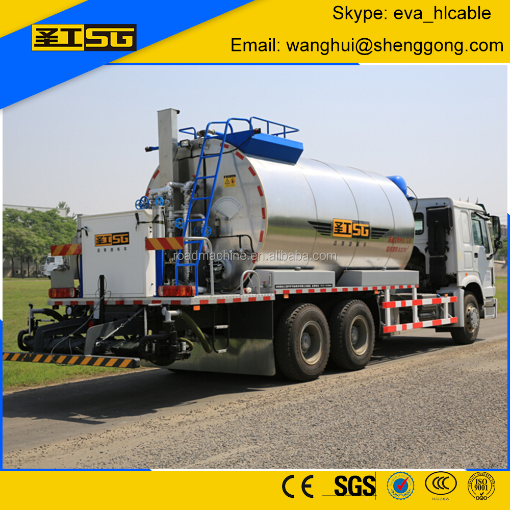 1000 Liter to 13000 Liter Asphalt, Computerized Asphalt Spray Truck