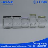 FDA certificated Multiple Color glass jam jar with lid