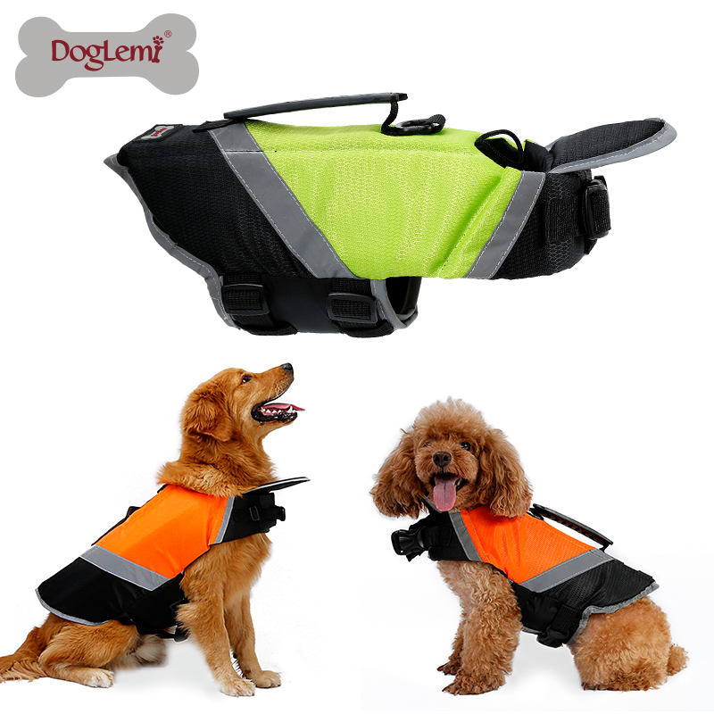 Doglemi Wholesale Two-tone <strong>Dog</strong> Swimming Reflective <strong>Dog</strong> Life Preserver Life Pet Clothes