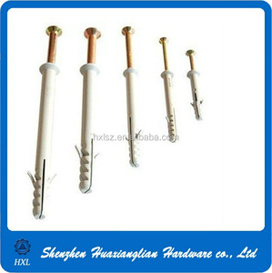 6-12mm plastic screw wall plugs for screws