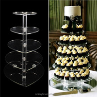 3/4/5/6/7 layers detachable acrylic cake holder