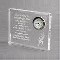 Types Of clear Crystal clock Christmas Souvenir/ Crystal Father's Day Gift