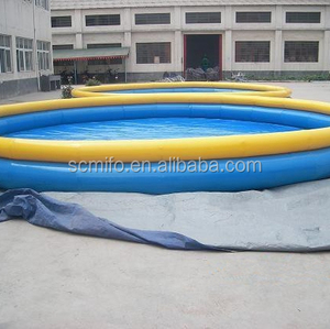 Funny summar game giant inflatable pool slide for adult