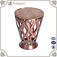 swivel narrow coffee round table , wrought iron dine table price