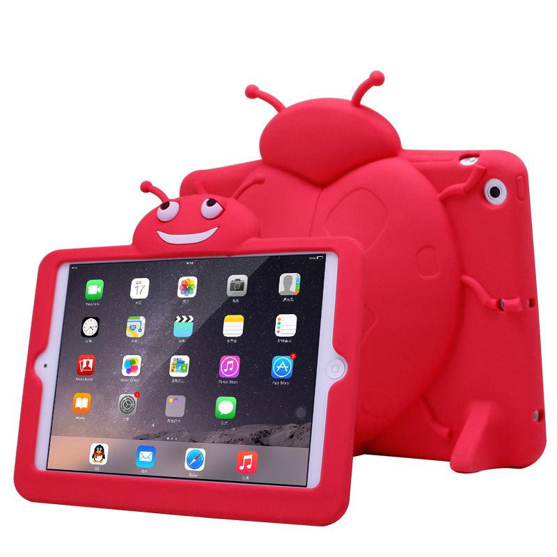 Scratches Resistant With Kickstand Detachable Silicone Combo Case for iPad Mini