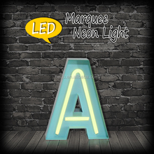 Latest product of China battery operated decor neon tube metal frame alphabet letters hanging indoor lights without electricity